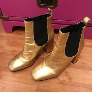 Women's Metallic Maria Flared Chelsea Boots